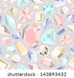 seamless pastel diamonds... | Shutterstock .eps vector #143893432