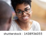 close up of smiling black... | Shutterstock . vector #1438936055