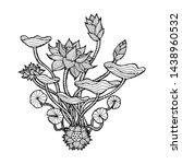 beautiful lotus flower sketch ... | Shutterstock .eps vector #1438960532