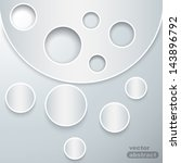abstract paper graphics. vector ... | Shutterstock .eps vector #143896792