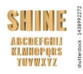 3d gold symbols alphabet. shiny ... | Shutterstock .eps vector #1438992272