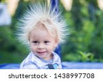 Cute little boy with static...
