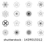 set of flat spring flower icons ... | Shutterstock .eps vector #1439015312