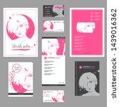 big set of hand drawn templates ... | Shutterstock .eps vector #1439016362