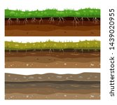 soil ground layers. seamless...
