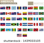 national flag of american... | Shutterstock .eps vector #1439033105