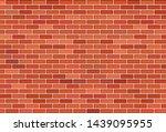 brown brick wall vector... | Shutterstock .eps vector #1439095955