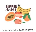 summertime composition with... | Shutterstock .eps vector #1439105378