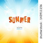 summer background | Shutterstock .eps vector #143911156