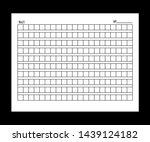 10x21squared manuscript paper.  ... | Shutterstock . vector #1439124182