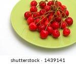 cherries on the green plate ... | Shutterstock . vector #1439141