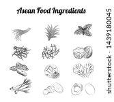 outline clip art of asean food...   Shutterstock .eps vector #1439180045