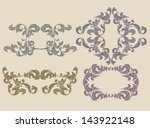 set of floral design elements | Shutterstock .eps vector #143922148
