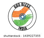 happy independence day india ... | Shutterstock .eps vector #1439227355