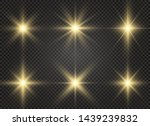 white glowing light explodes on ... | Shutterstock .eps vector #1439239832
