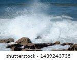 Small photo of Atlantic Ocean waves breese water