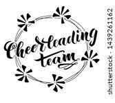 cheerleading team lettering... | Shutterstock .eps vector #1439261162