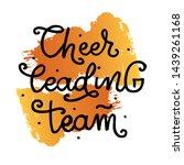 cheerleading team lettering... | Shutterstock .eps vector #1439261168