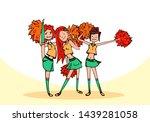 vector sketch   three... | Shutterstock .eps vector #1439281058