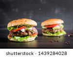 big sandwich   hamburger burger ... | Shutterstock . vector #1439284028