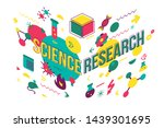 medical research vector... | Shutterstock .eps vector #1439301695