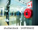 fire alarm on the wall of... | Shutterstock . vector #143930632