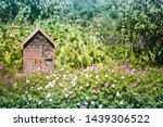 A bug insect house hotel in a...