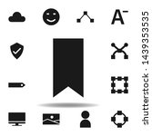 user website tag icon. set of...