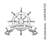 ship's wheel logo vintage... | Shutterstock .eps vector #1439358755