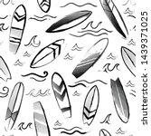 watercolor vector surfing... | Shutterstock .eps vector #1439371025