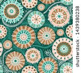 seamless pattern with... | Shutterstock . vector #1439380238