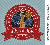 fourth of july independence... | Shutterstock .eps vector #143938636