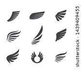 wings logo symbol icon vector... | Shutterstock .eps vector #1439409455