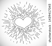 heart with hand drawn vintage...   Shutterstock . vector #1439417045