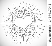 heart with hand drawn vintage...   Shutterstock . vector #1439417048