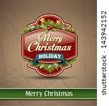 christmas premium labels ... | Shutterstock .eps vector #143942152