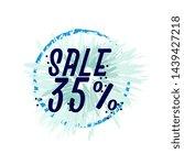 sale 35   beautiful greeting... | Shutterstock .eps vector #1439427218