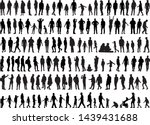 large collection of silhouettes ... | Shutterstock .eps vector #1439431688