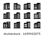 company icons and black vector... | Shutterstock .eps vector #1439432075