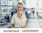 front view of caucasian female... | Shutterstock . vector #1439434055