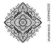 indian rug tribal ornament... | Shutterstock .eps vector #1439440235