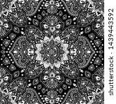 indian rug tribal ornament... | Shutterstock .eps vector #1439443592
