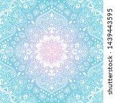 indian rug tribal ornament... | Shutterstock .eps vector #1439443595