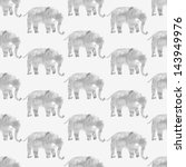 walking elephants seamless... | Shutterstock . vector #143949976