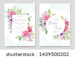 wedding invitation card with... | Shutterstock .eps vector #1439500202