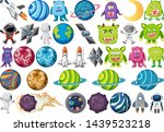 large space themed set...   Shutterstock .eps vector #1439523218