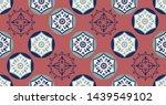 green pink geometric seamless... | Shutterstock .eps vector #1439549102
