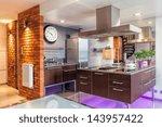 interior of a modern kitchen... | Shutterstock . vector #143957422