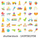 Baby Toy Isolated. Vector. Set...