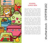 template with school lunch box  ... | Shutterstock .eps vector #1439598182